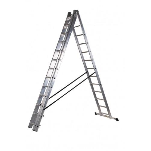 Трираменна стълба DRABEST 3x13