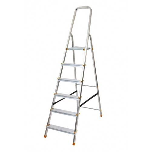 Алуминиева домакинска стълба 5+1