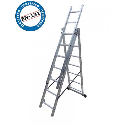 Трираменна стълба DRABEST 3x7