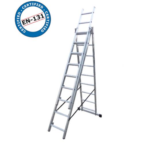 Трираменна стълба DRABEST 3x9