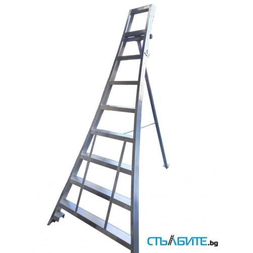Градинарска професионална стълба с 8 стъпала