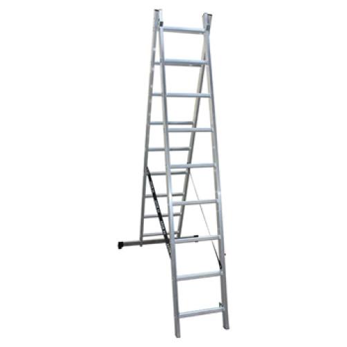 Двураменна професионална стълба 2x9 Арон