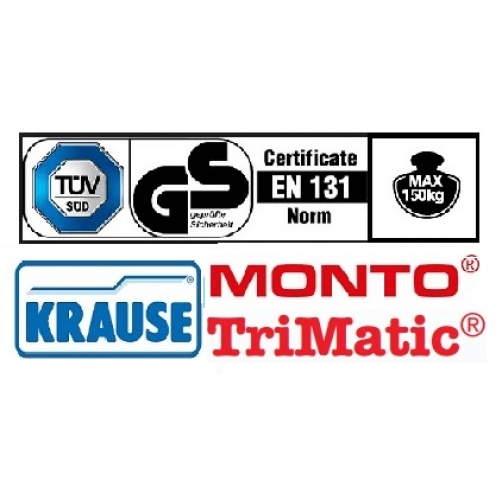 Двойна професионална стълба с панта Trimatic 2х6 Krause