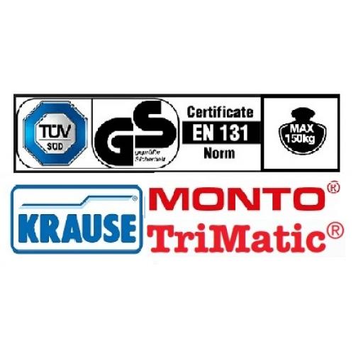 Двойна професионална стълба с панта Trimatic 2х8 Krause