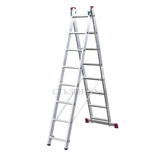 Двураменна професионална стълба CORDA 2x8 Krause