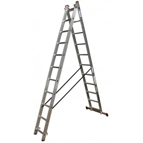 Двураменна стълба CORDA 2x11 Krause