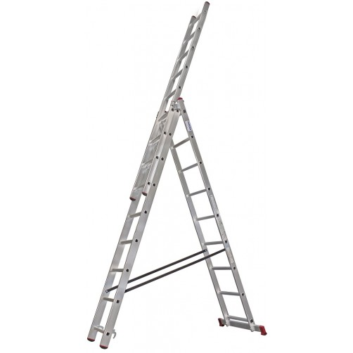 Трираменна професионална стълба CORDA 3x10 Krause