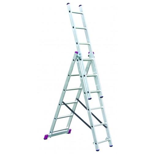 Трираменна професионална стълба CORDA  3x6 Krause