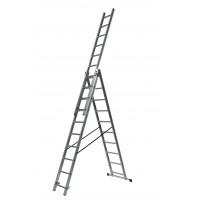 Трираменна професионална стълба 3x10 Drabest
