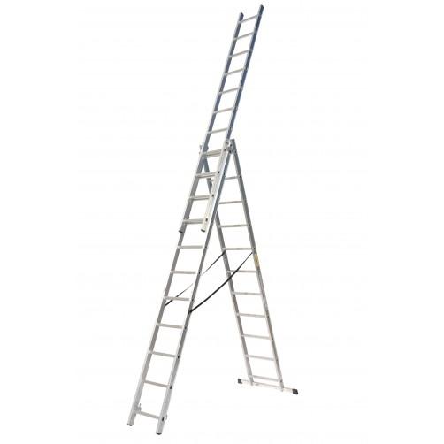 Трираменна професионална стълба 3x11 Drabest