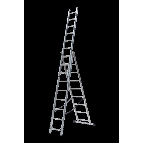 Трираменна професионална стълба 3x9 Drabest