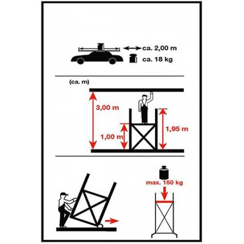 Скеле АРОН 3м. работна височина
