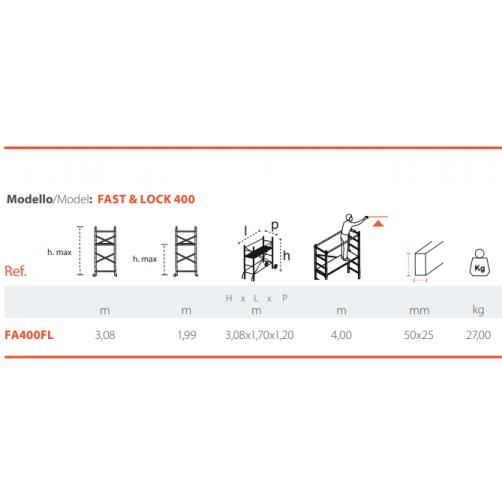 Скеле FAST & LOCK 3.90m. работна височина