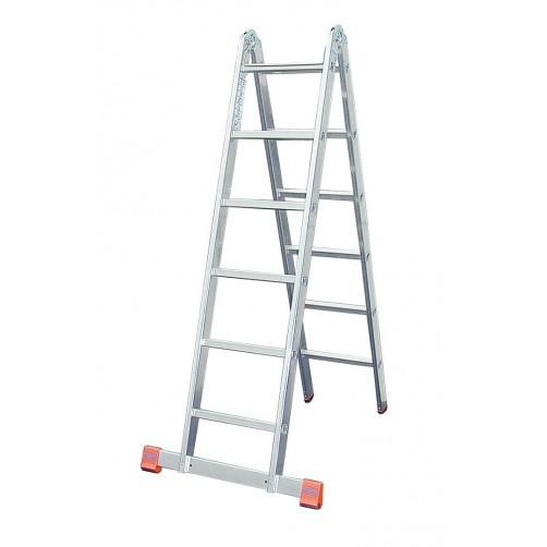 Двойна алуминиева стълба с панта Trimatic 2х6 Krause