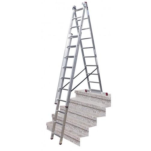 Трираменна стълба CORDA  3x10 Krause
