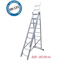 Трираменна стълба  3x9