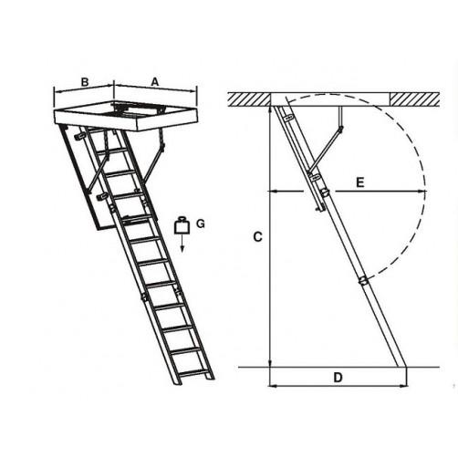 Стълба за таван FLEX TERMO
