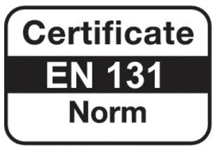 Градинарска стълба 1х8 сертификат EN131 лого