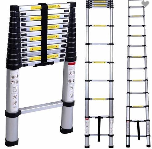 Телескопична единична стълба разгъната