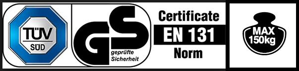 Алуминиеви стълби сертификати лого