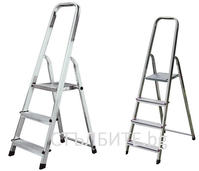 Домакинска стълба с платформа и рамка с 2 и 3 стъпала Krause