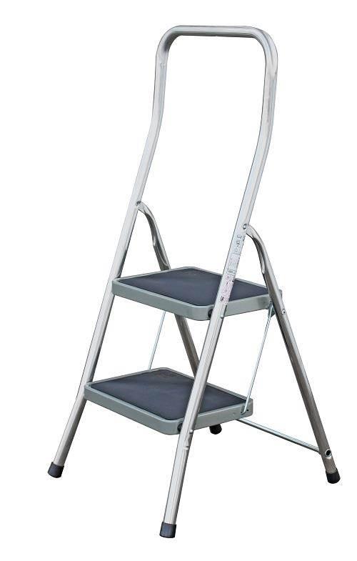 Домакинска стълба с широко гумирано стъпало и 2 стъпала Krause