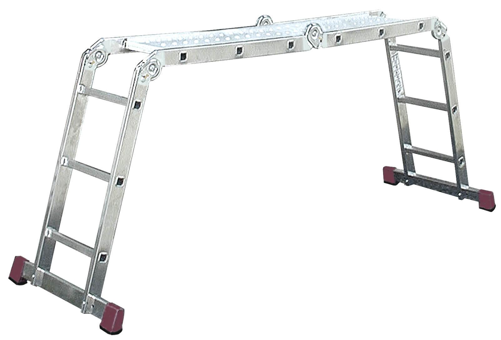 Сгъваема стълба от алуминий KRAUSE