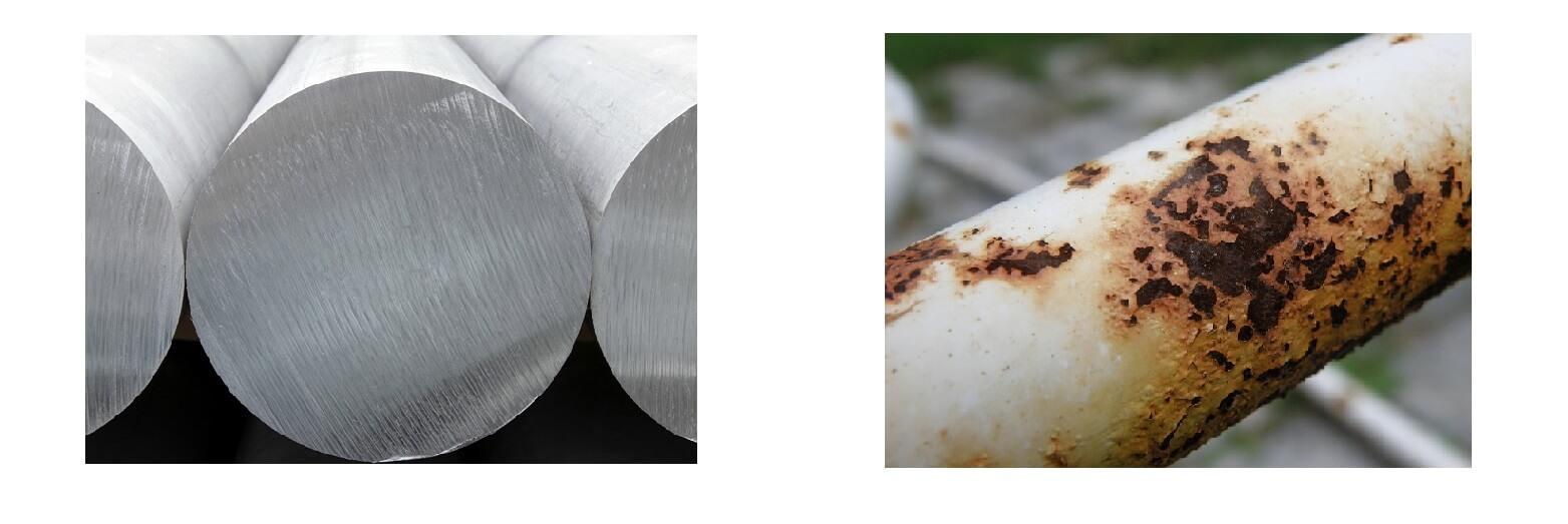 Материал за скелета - алуминий и желязо-ръждясало