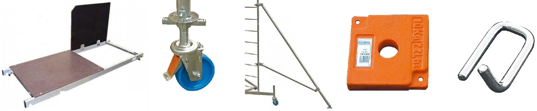 Скеле от алуминий допълнителни аксесоари и резервни части Krause