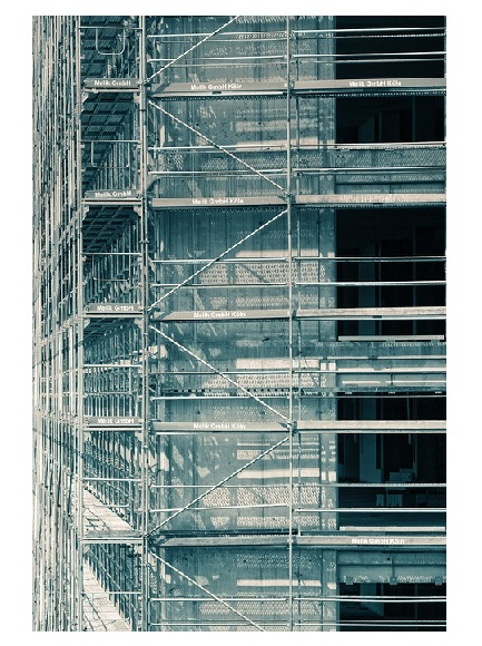 Скеле от желязо на фасада