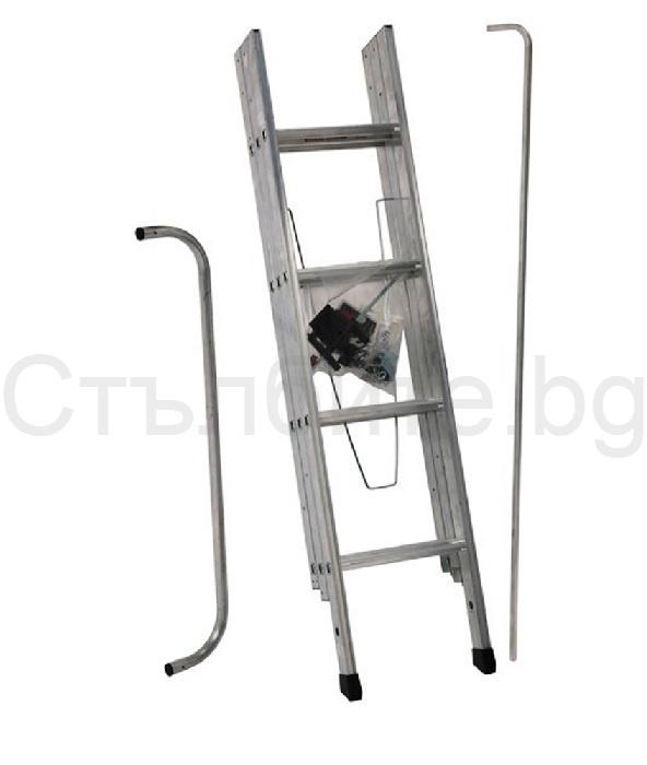 Стълба за таван тип изтегляща се Easiway комплект с парапет, дръжка и ключалка