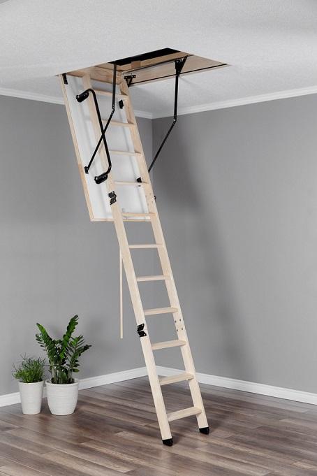 Таванска стълба тип капандура дървена Termo разпъната
