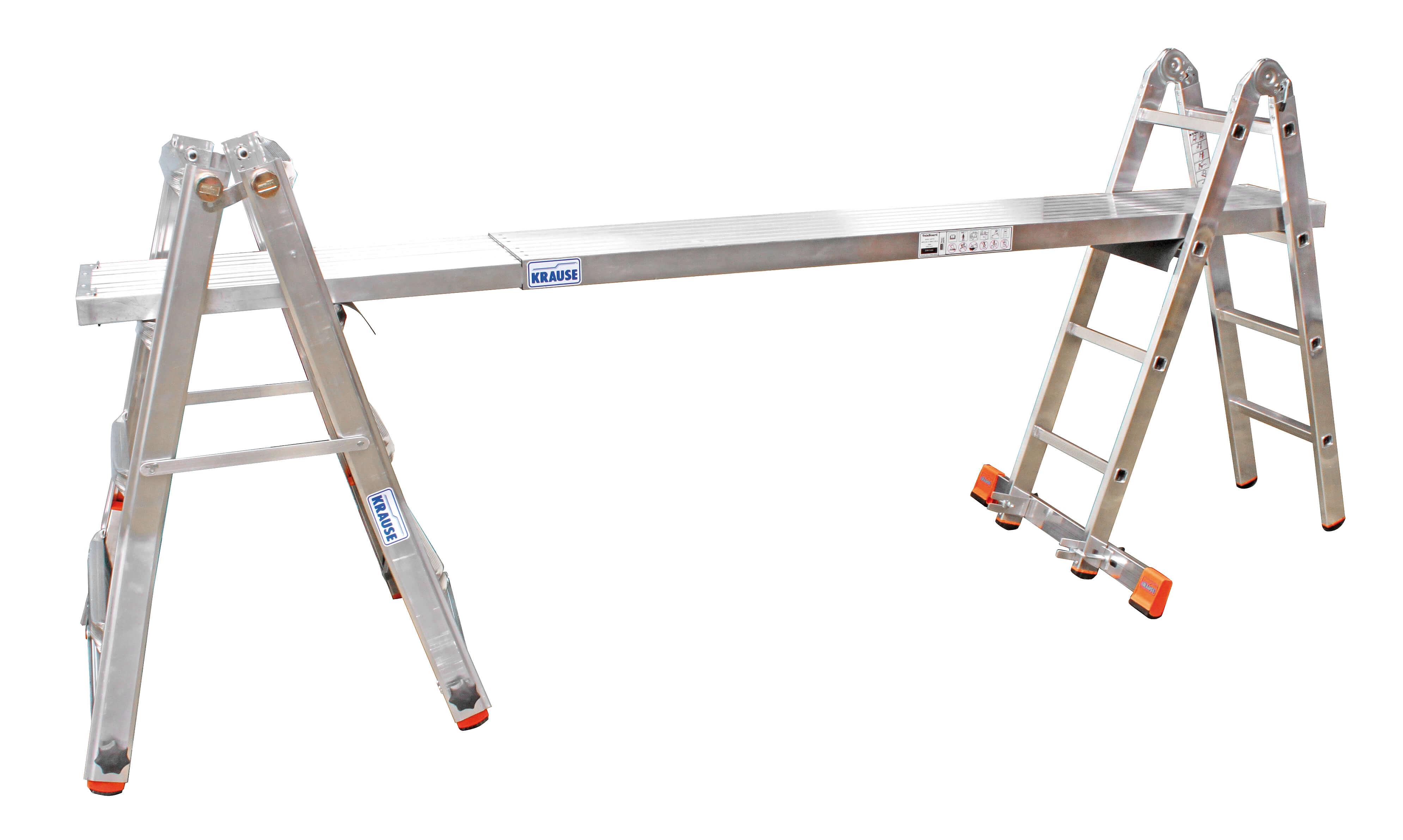 Телескопична стълба с тройна функция позиция скеле