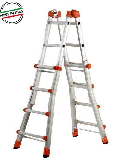 Телескопична стълба с двойна функция позиция двураменна