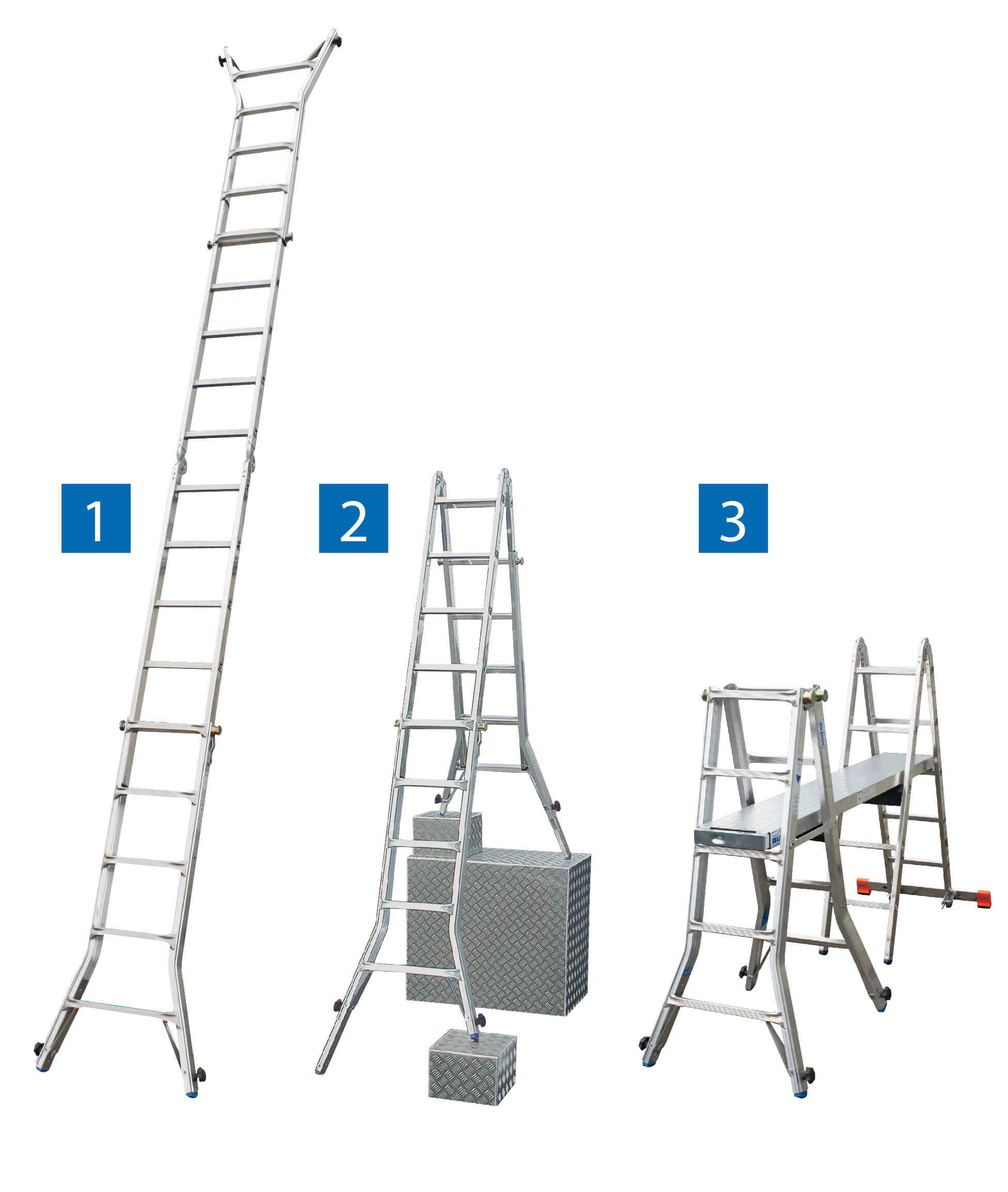 Телескопична стълба с тройна функция KRAUSE