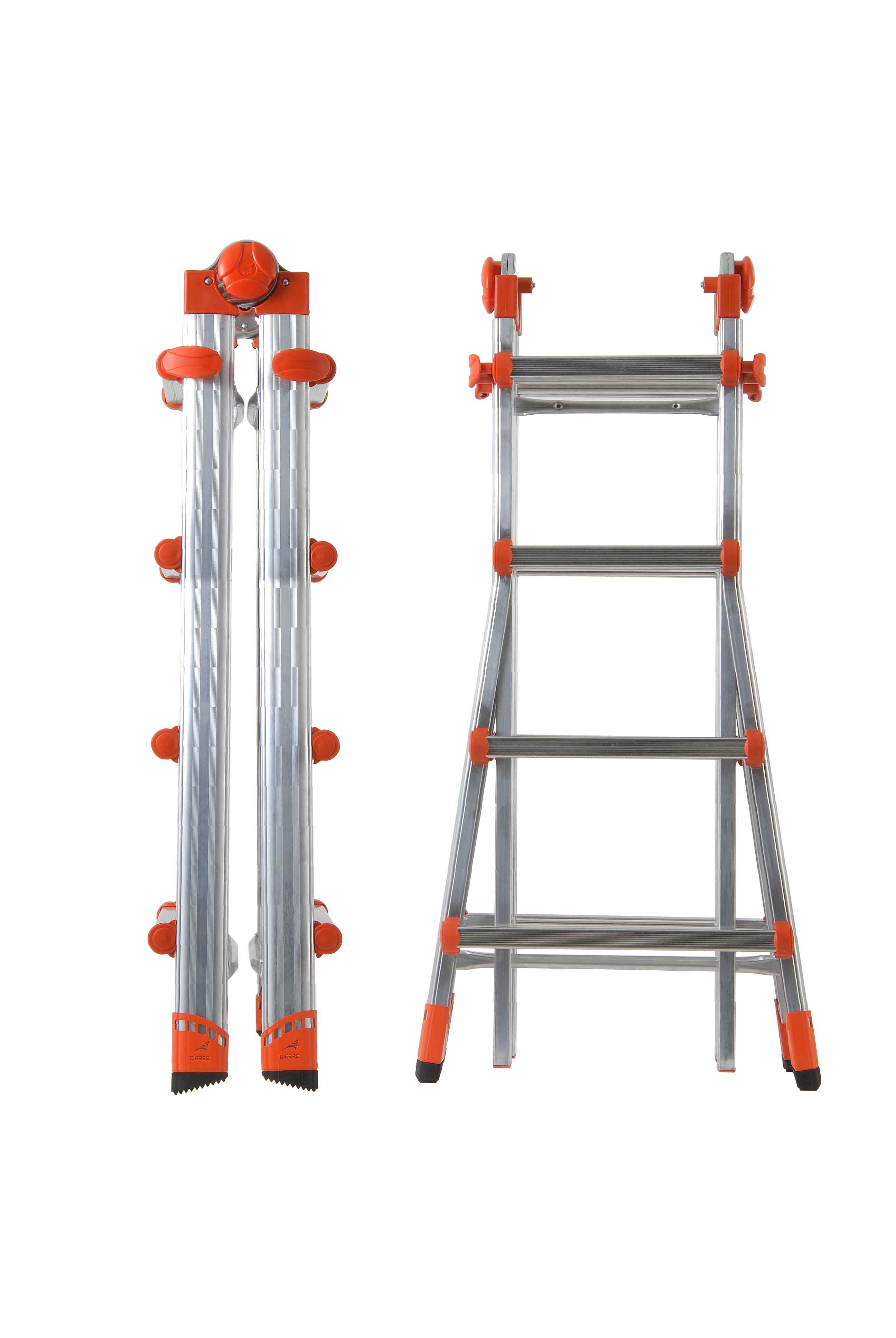 Телескопична стълба с двойна функция от алуминий Gierre