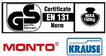 Сгъваема многофунционална стълба Multimatic 4х4 Кrause сертификати
