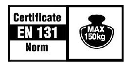 Сгъваема стълба 4х3 сертификат