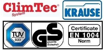 Вертикална рамка 100х65 см за скеле ClimTec сертификат за качество  Krause