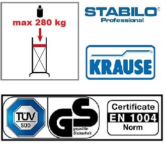 Сертификати скеле Stabilo 9.40 m. работна височина Krause